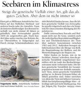 Article in the Tagesspiegel, 2014